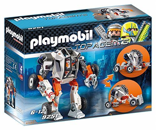 "PLAYMOBIL 9251"" Top Agent T.E.C.s' Robot with Transforming Function Toy Set"
