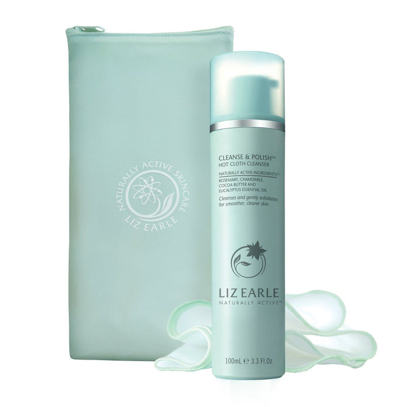 Liz Earle Cleanse & Polish Starter Kit 100ml and 2 Muslin Cloths