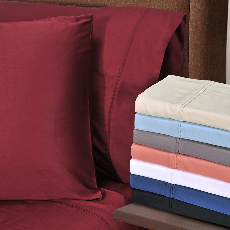 Superior 300 Thread Count California King Sheet Set, 100% Modal from Beech, Solid, Ivory