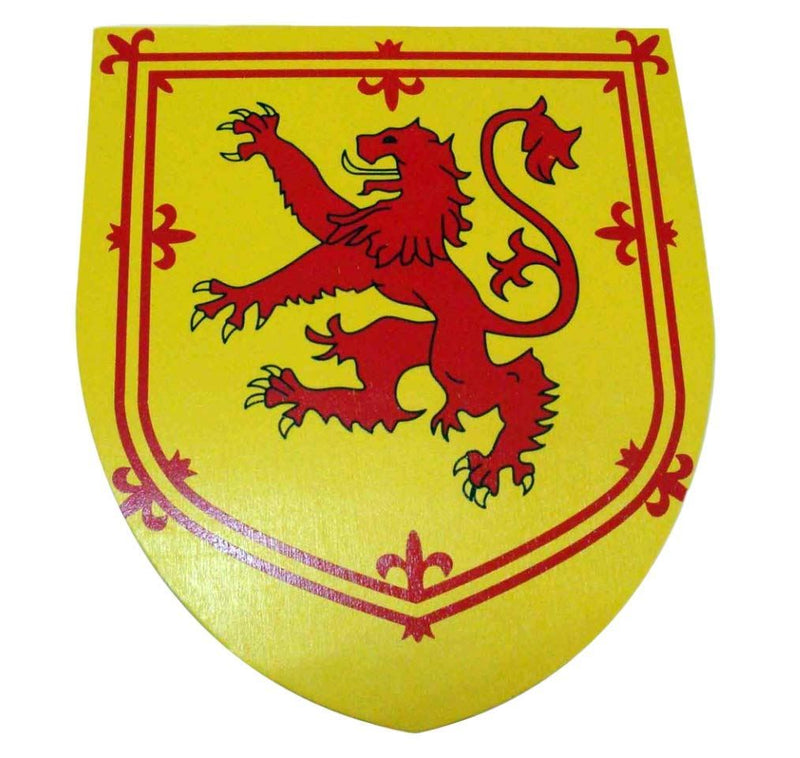 RAMPANT LION WOODEN SHIELD 35CM NEMESIS NOW