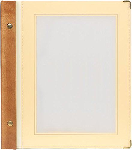Securit A5 Wood Range Menu Card with 2 Inserts, Beige Ivory