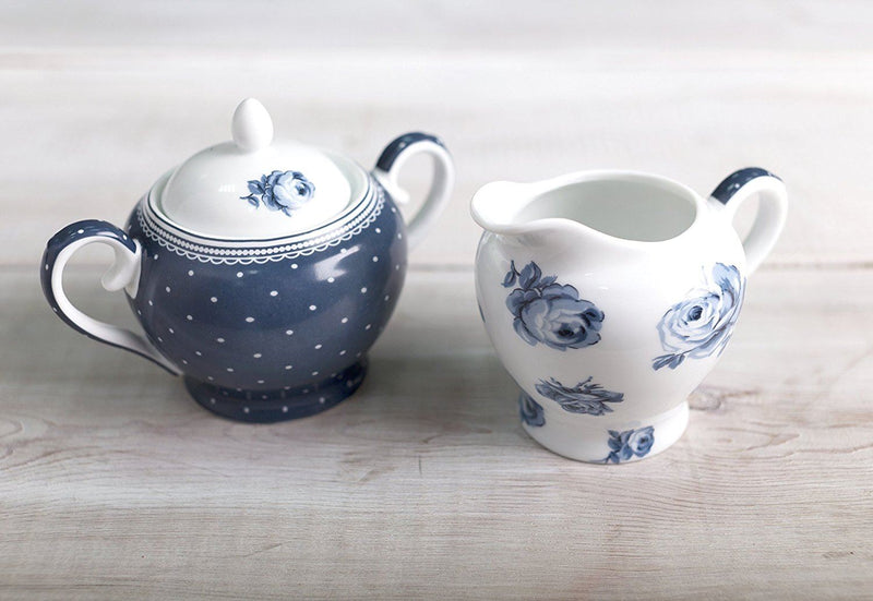 Katie Alice 'Vintage Indigo' Sugar and Creamer Set, Blue, 2-Piece