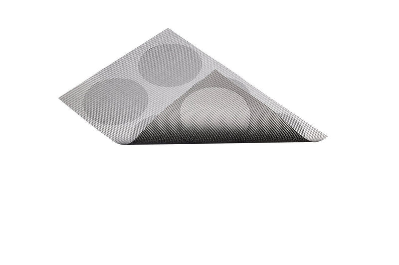 Kitchen Craft Woven Vinyl Placemat, 30 x 45 cm (12' x 17.5') - Grey Spots