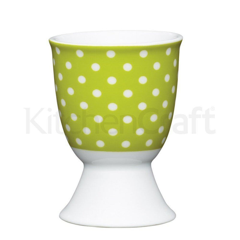Kitchen Craft - Porcelain Egg Cup - Polkadot Green