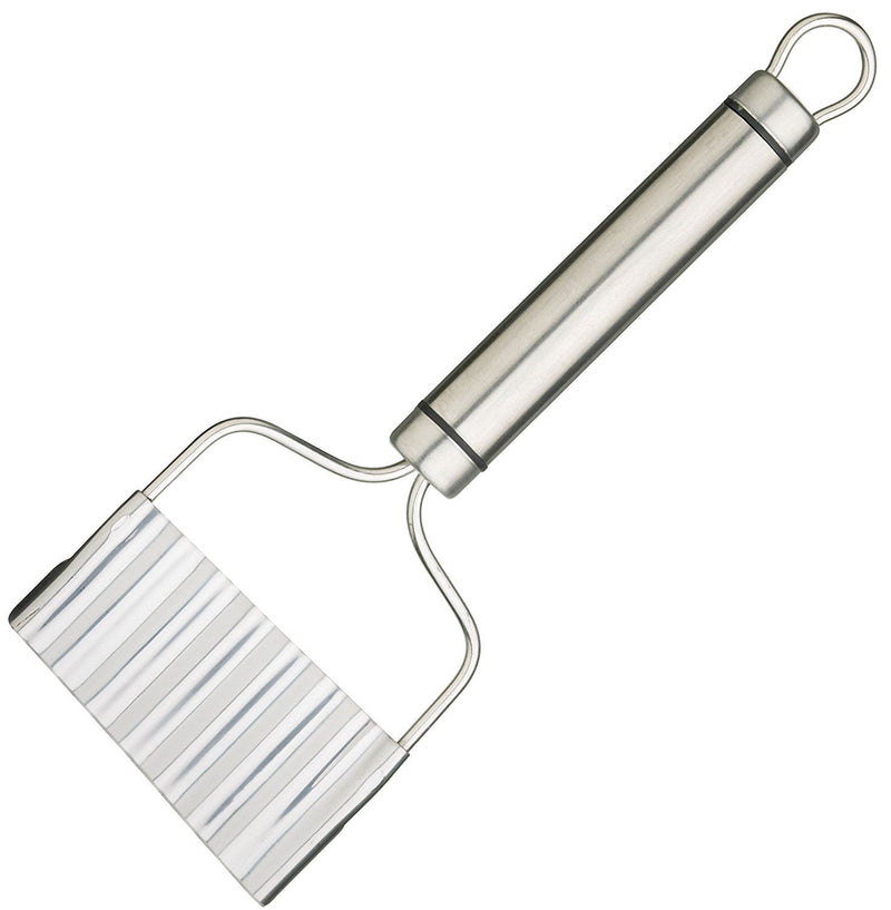 KitchenCraft Professional Stainless Steel Crinkle Chip Cutter, 21 x 8 cm (8.5' x 3')