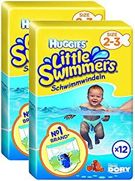 Huggies Little Swimmers Swim Pants Size 2-3 3-8kg Set of 2 Packs of 12