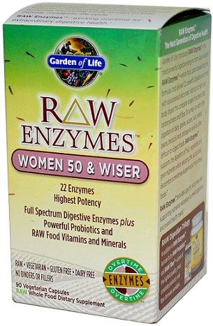Garden of Life Vegetarian Raw Enzymes Digestive Supplement for Women - 90 Caps