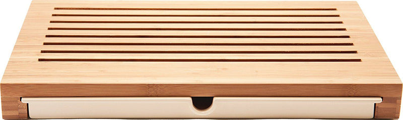 "Alessi ""Sbriciola"" Bread Board in Bamboo Wood With Crumb Catcher in Thermoplastic Resin, Wood"