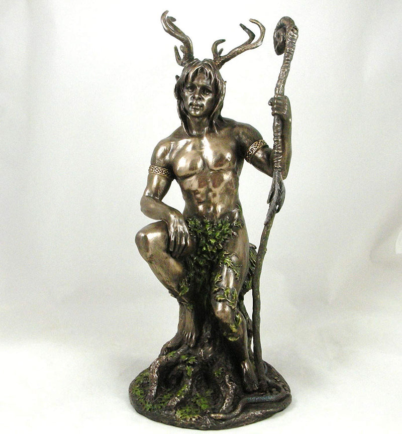 Herne the Hunter' Bronze Statue Nude Male Pagan Lord of the Forest Figurine Bronzed Ornament