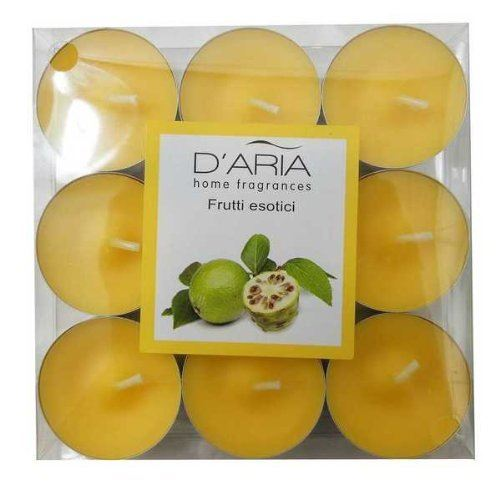 D'Aria Exotic Fruit Scented 9 Tealights Pack of 2