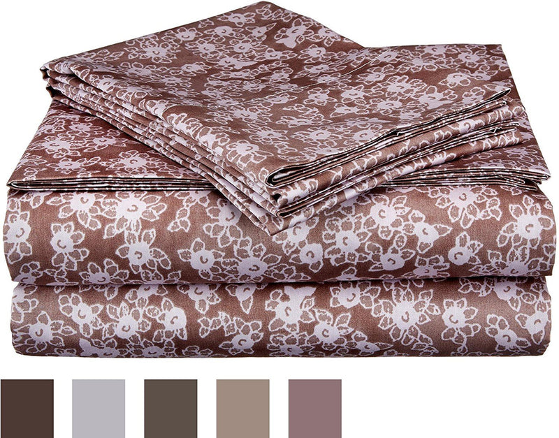Impressions 300 Thread Count Western Sheet Set, Multi-Colour, Queen, 4-Piece