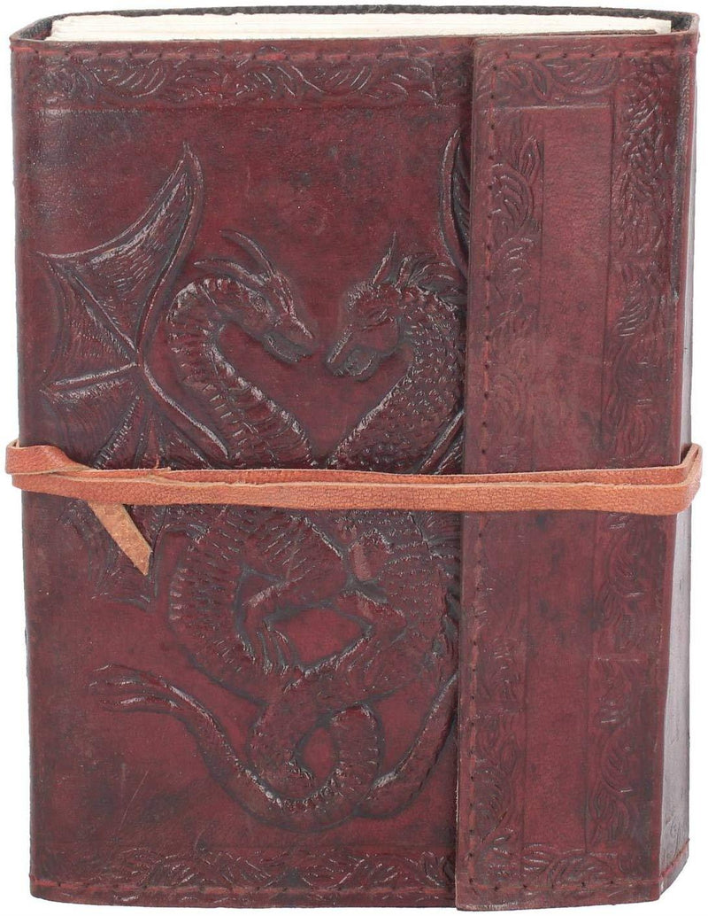 Nemesis Now Double Dragon Leather Journal 20cm Brown
