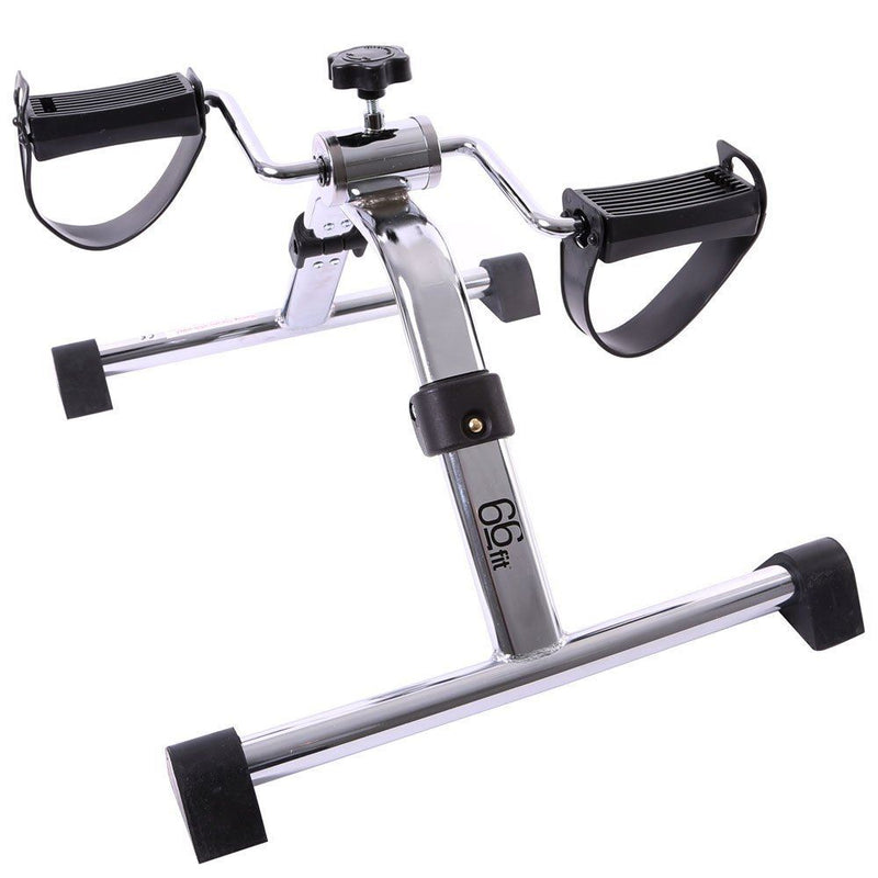 66fit Folding Arm and Leg Pedal Exerciser - Home Physiotherapy Fitness Mini Bike