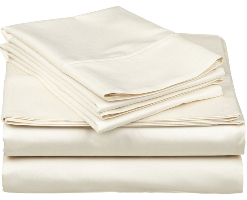 Impressions 530 Thread Count Sheet Set, Egyptian Cotton, Ivory, California King, 4-Piece