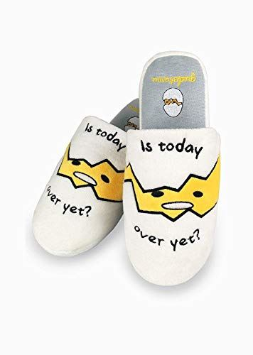 Gudetama Is Today Over Yet Mule Slippers UK Size 5-7