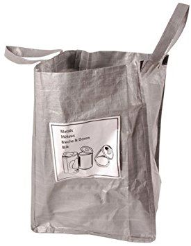 Fallen Fruits Grey Kitchen Recycling Bag For Tin
