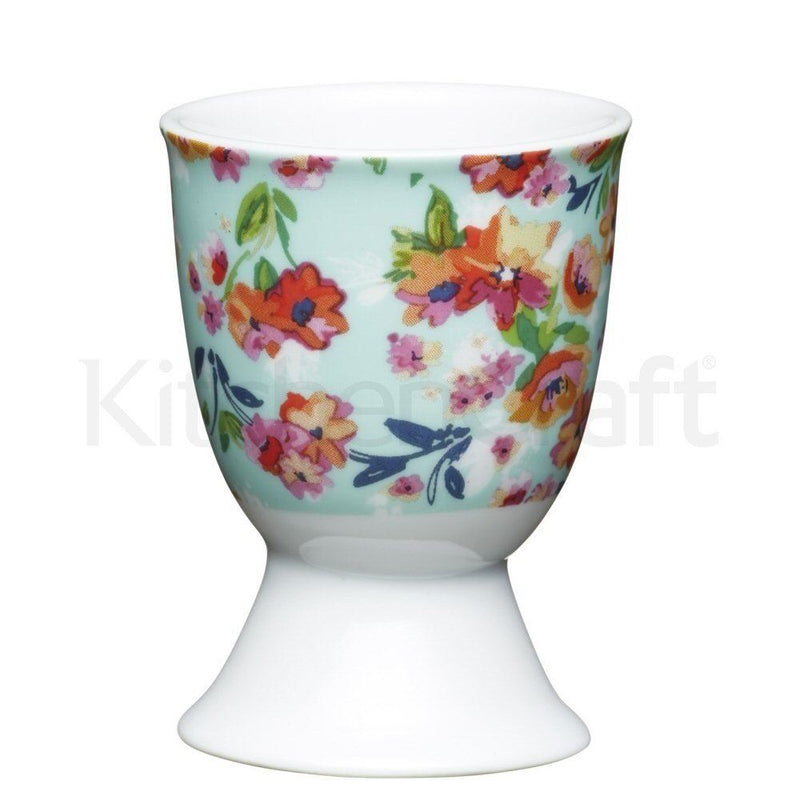 Kitchen Craft - Porcelain Egg Cup - Floral Tropics