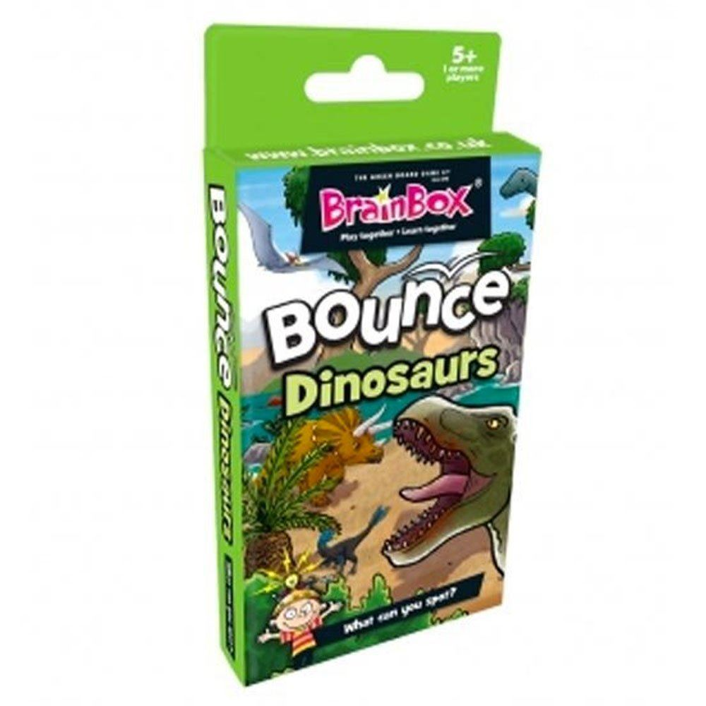 BrainBox Bounce Card Game Dinosaurs