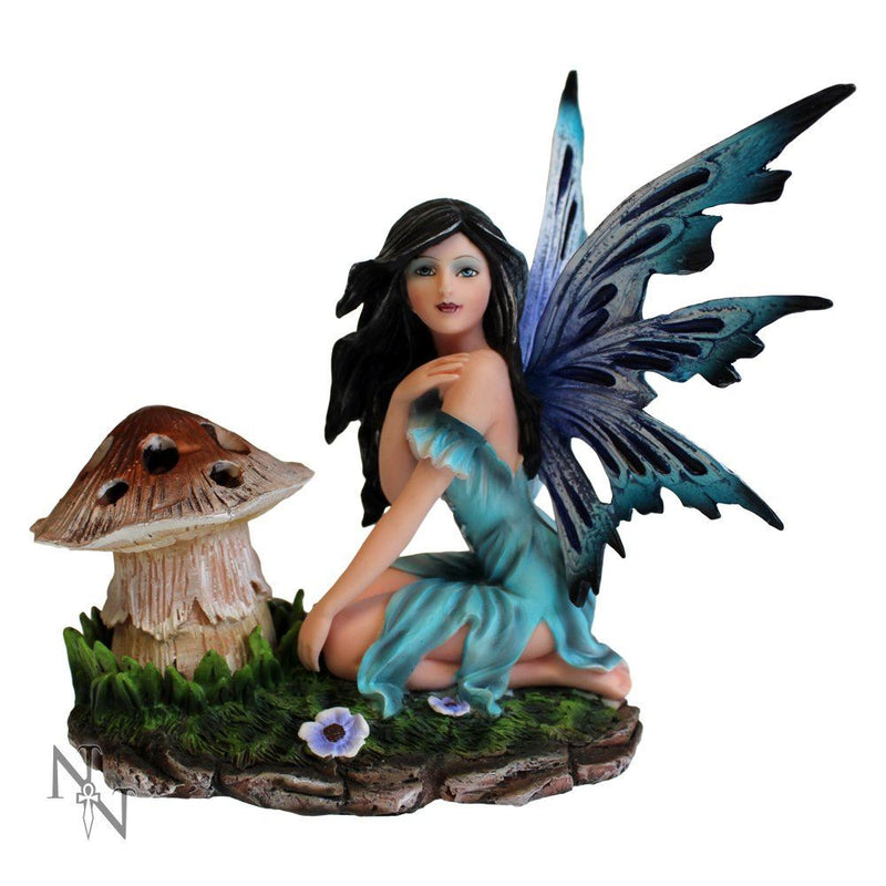 Nemesis Now Lunaria Figurine Blue Fairy and Toadstool Ornament