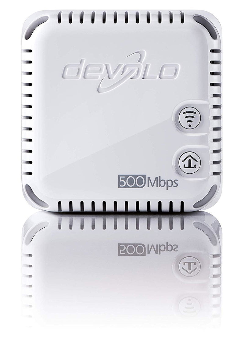 devolo dLAN 500 Wi-Fi Powerline Network Kit (500 Mbps, 3 x PLC Homeplug Adapter, 1 x LAN Port, WiFi Signal Booster, Wireless Extenders, Wi-Fi Move, whole home wifi, Power Save) - White
