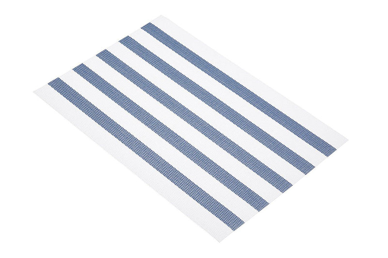 KitchenCraft Woven Vinyl Placemat, 45 x 30 cm (17.5' x 12') - Nautical Stripes