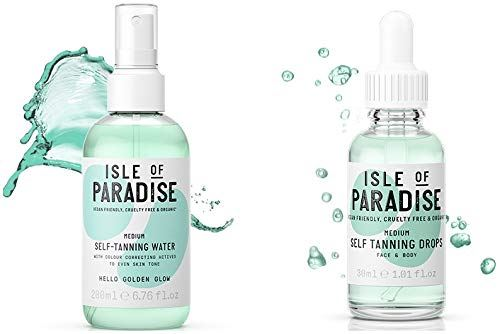 Isle of Paradise Self-Tanning Complete Set Water 200ml and Drops 30ml (Medium)