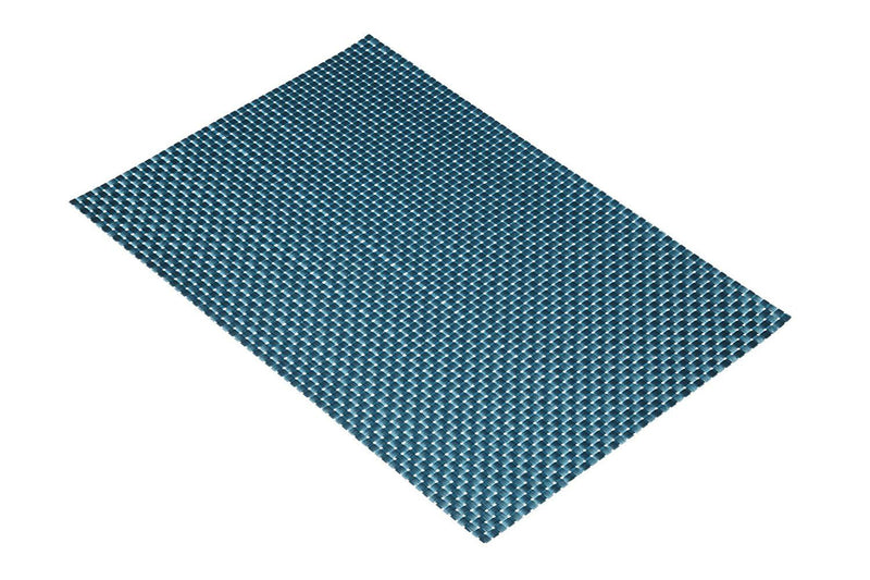 KitchenCraft Woven Vinyl Placemat, 45 x 30 cm (17.5' x 12') - Turquoise Weave