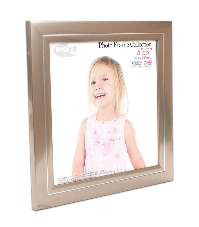 Inov8 British Made Traditional Picture/Photo Frame, 8x8-inch, Pewter 53