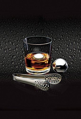 Bar Craft Large Stainless Steel Ice Balls Chilling Set