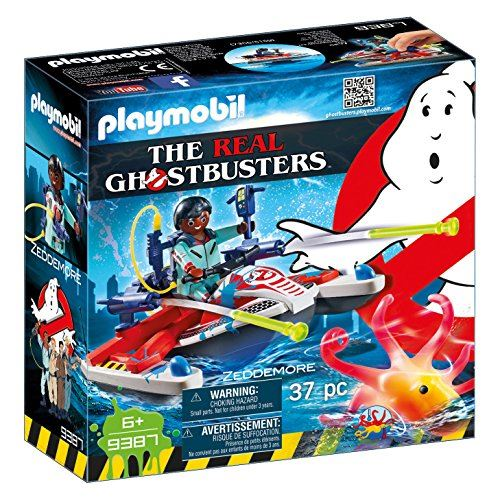 Playmobil Ghostbusters 9387 Zeddemore with Aqua Scooter, Floats on Water for Children Ages 6+