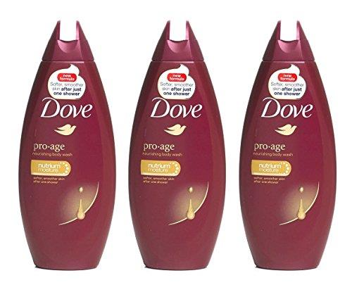 3 x Dove Pro-age Body Wash 250ml