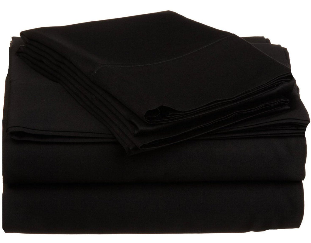 Impressions 530 Thread Count Sheet Set, Egyptian Cotton, Black, King, 4-Piece