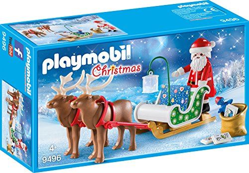 Playmobil #9496 Santa's Sleigh with Reindeer - New Factory Sealed