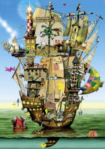 Schmidt Colin Thompson Noah's Ark Premium Quality Jigsaw Puzzle (1000 Piece) Multicoloured