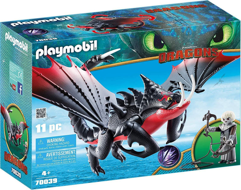 Playmobil DreamWorks Dragons  Deathgripper with Grimmel for Children Ages 4+