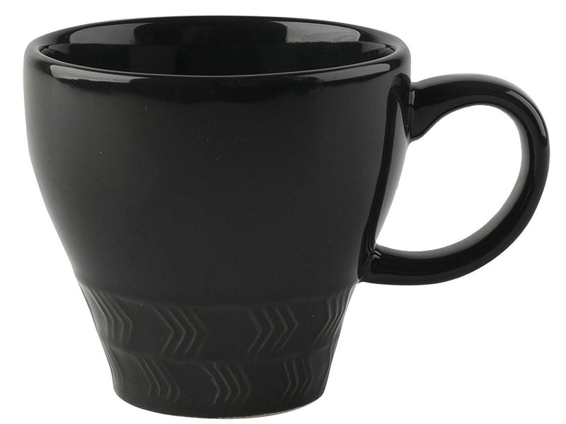 La Cafetiere Textured Geo Charcoal Mug