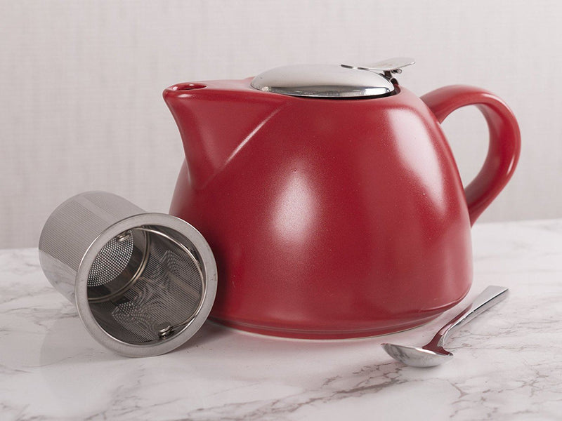 La Cafetiere Barcelona Teapot with Infuser, 900 ml - Red