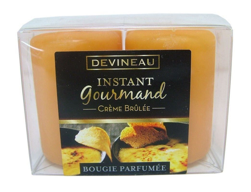 Devineau Instant Gourmet Creme Brulee Votive Candles Pack of 4