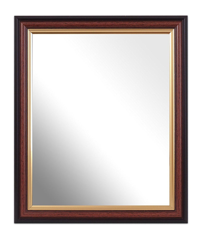Inov8 10 x 8-Inch British Made Traditional Mirror, Mahogany