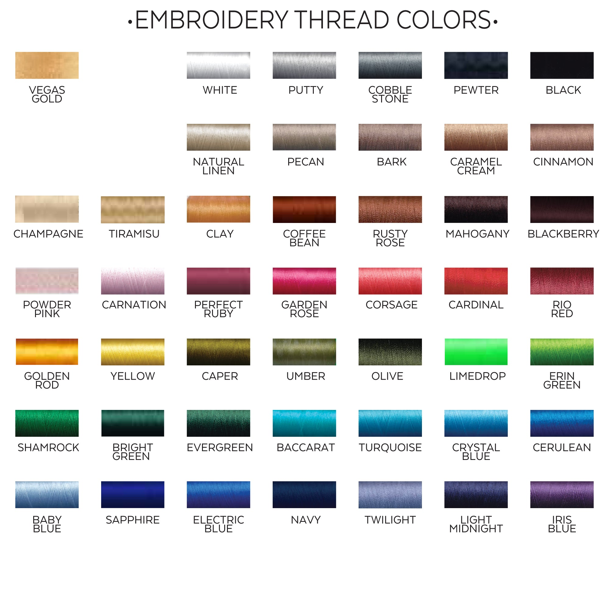 CBS thread colors