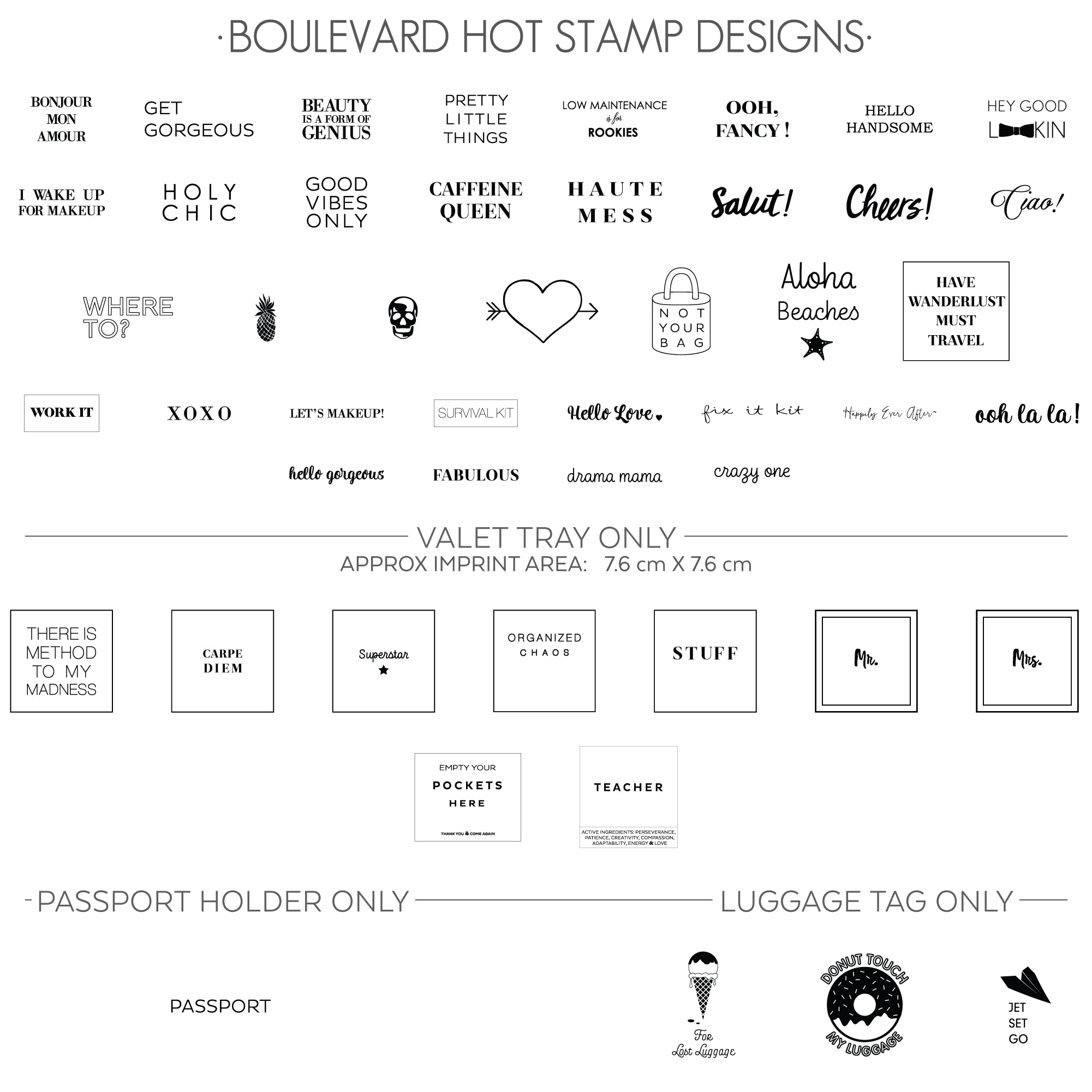 BLVD HOT STAMP DESIGNS