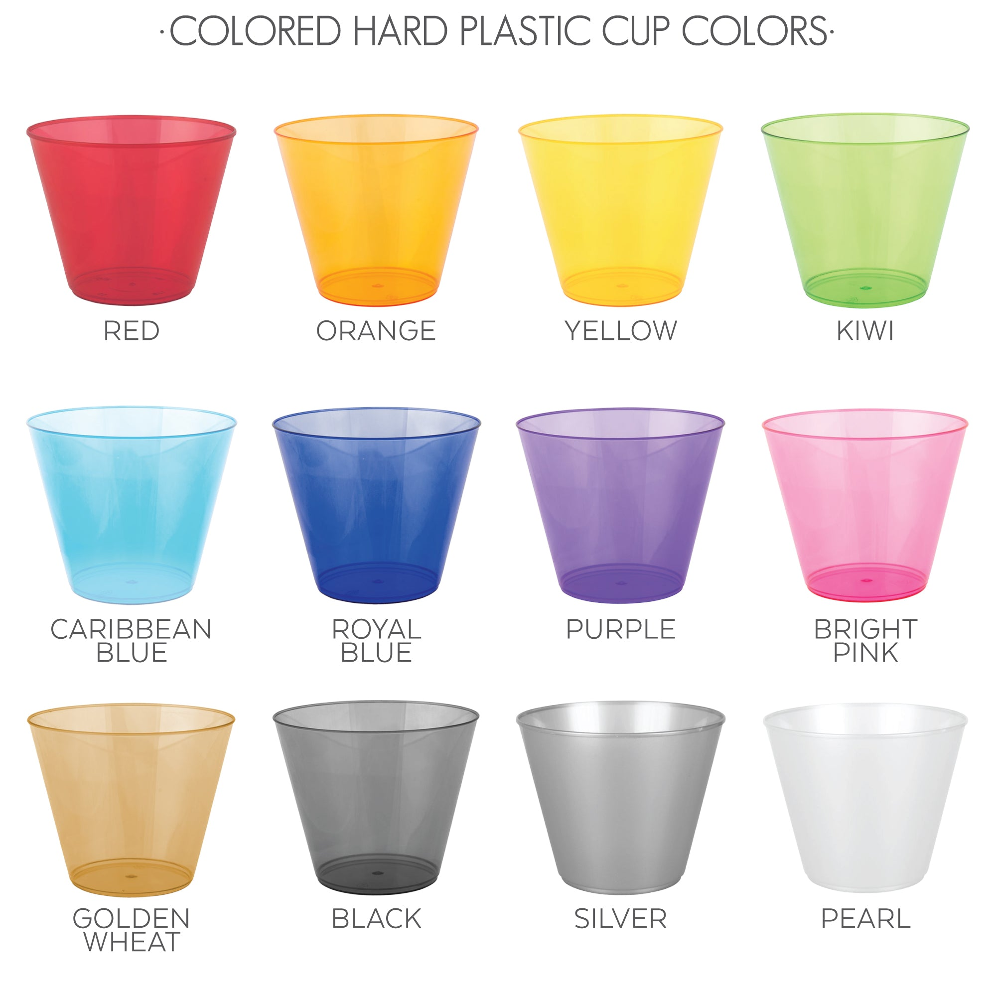 colored hard plastic colors