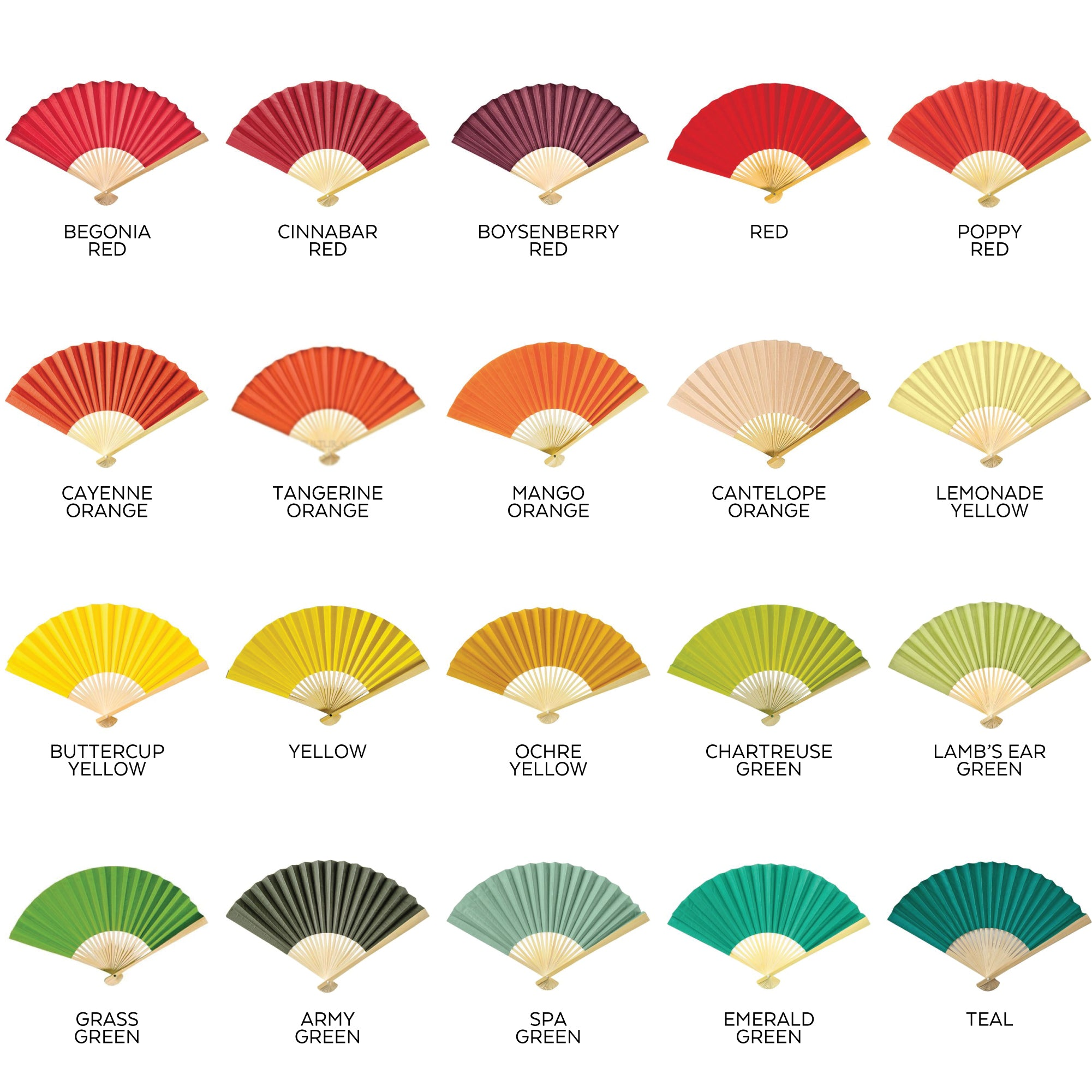 hand fan colors 2