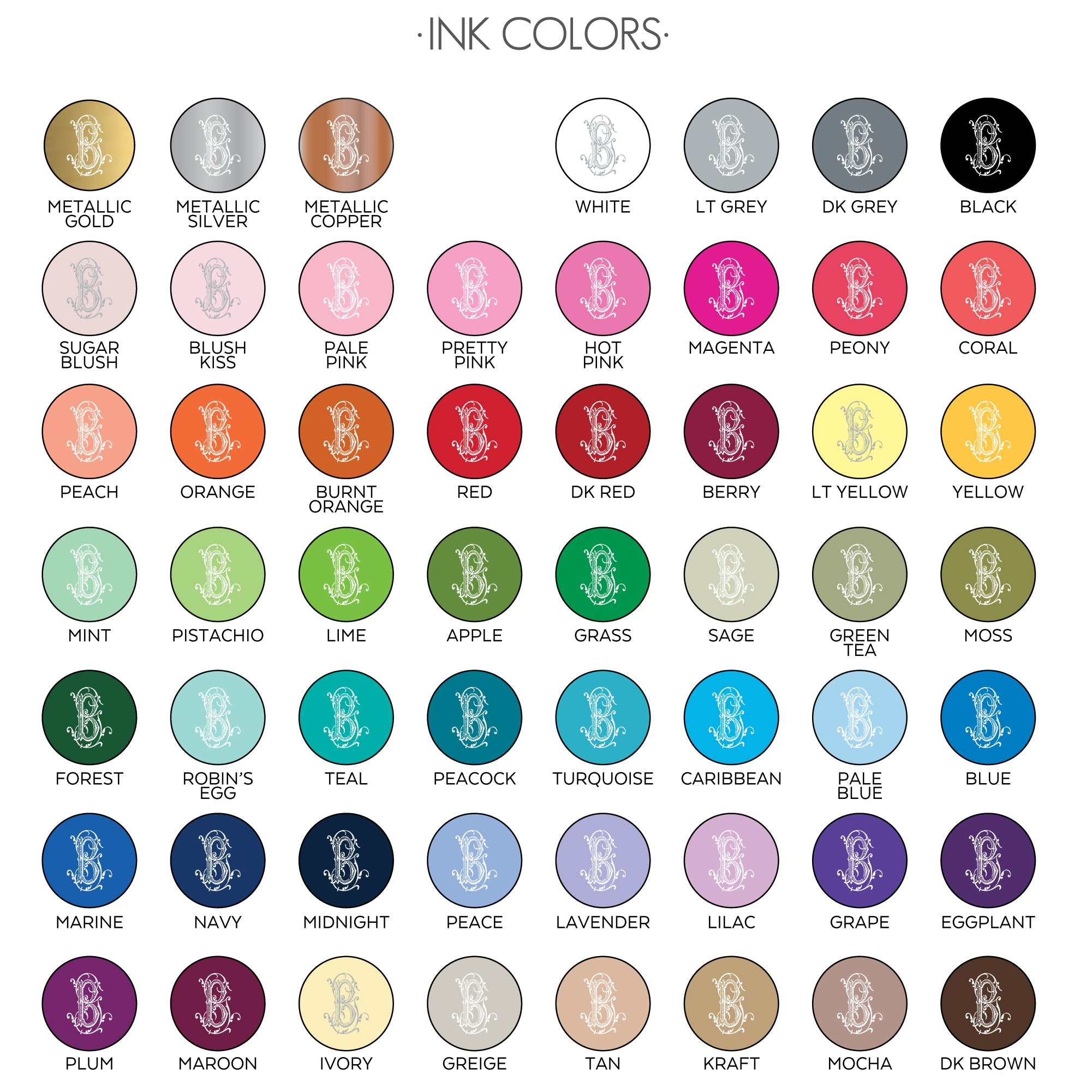 Ink Color Options