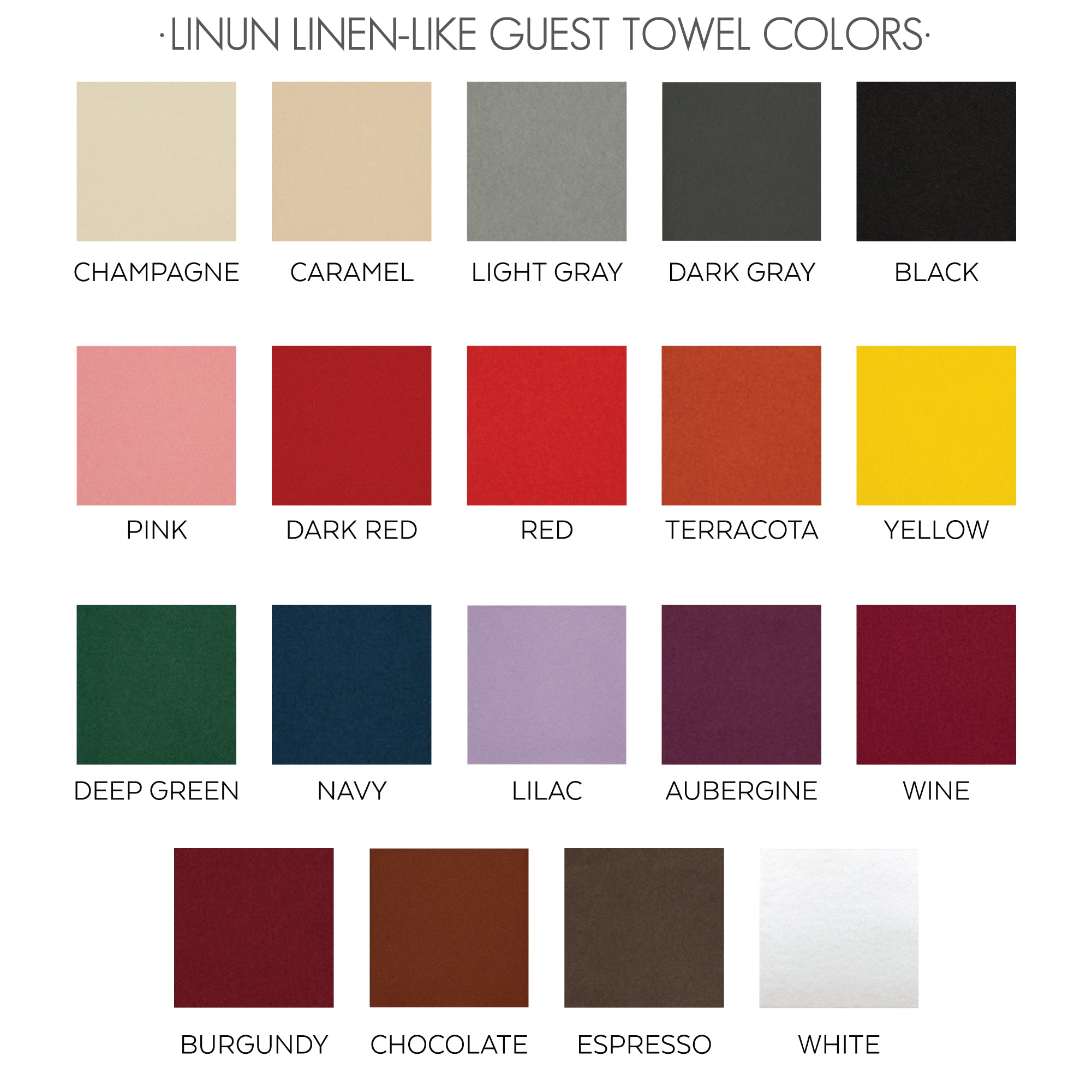 linen-like napkin colors