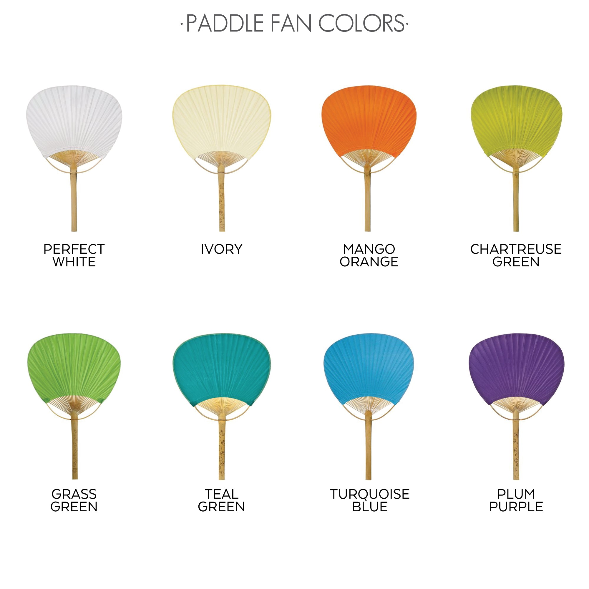 PADDLE FAN COLORS