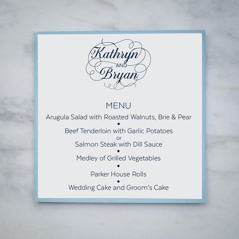 personalized menu