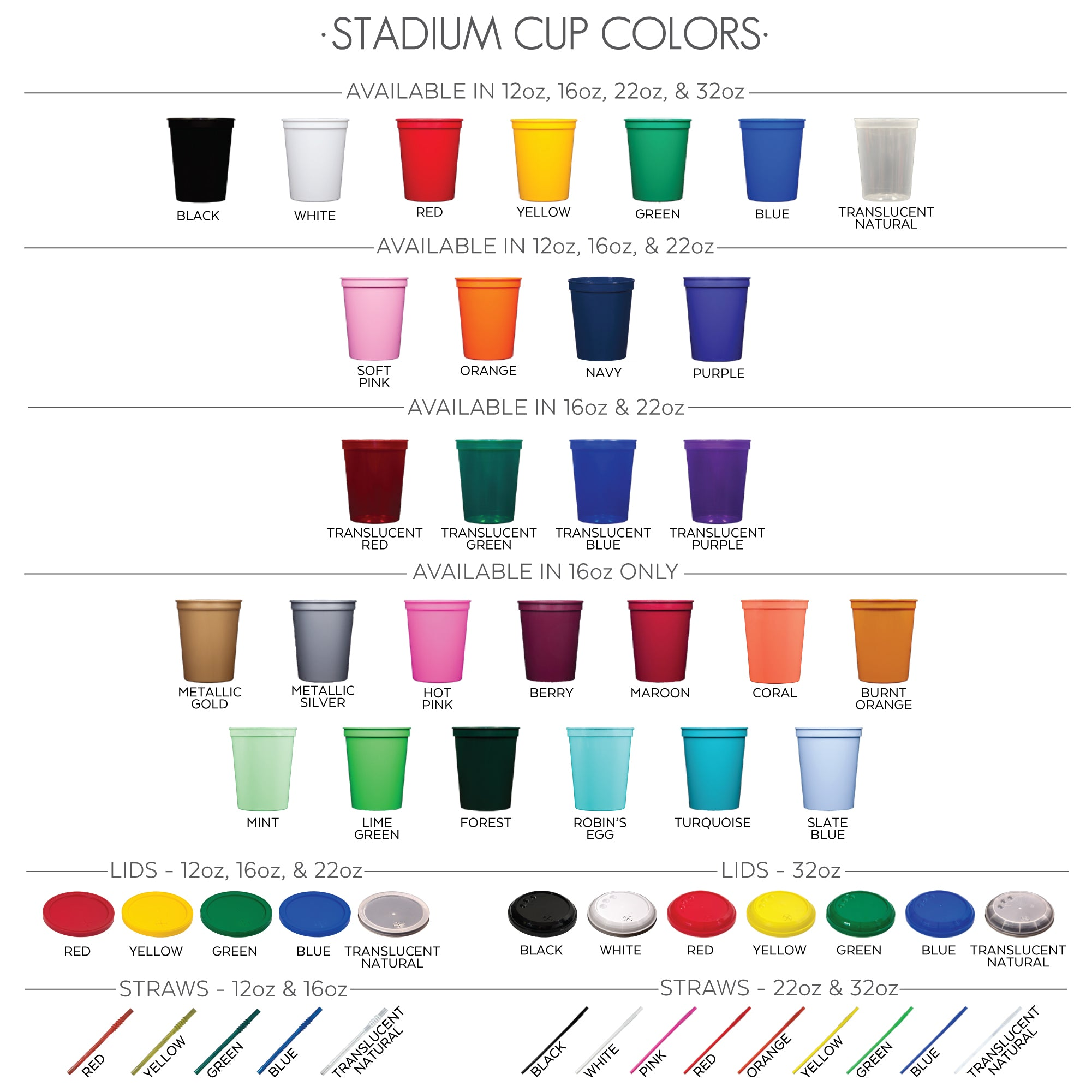 Stadium Cup Colors