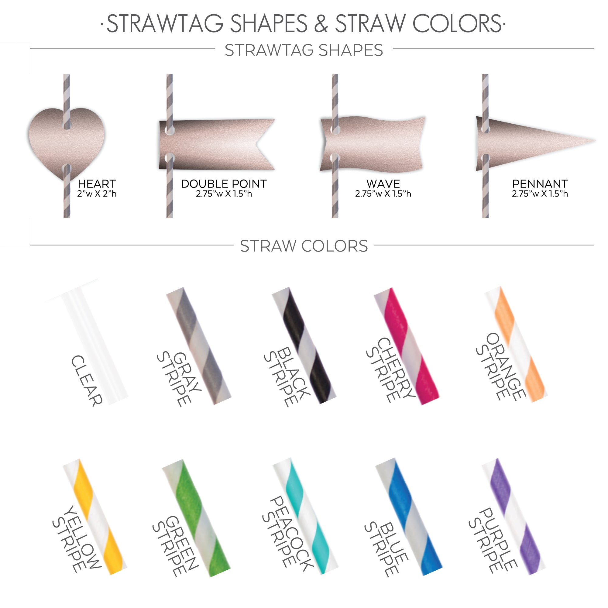 STRAWTAG SHAPES COLORS