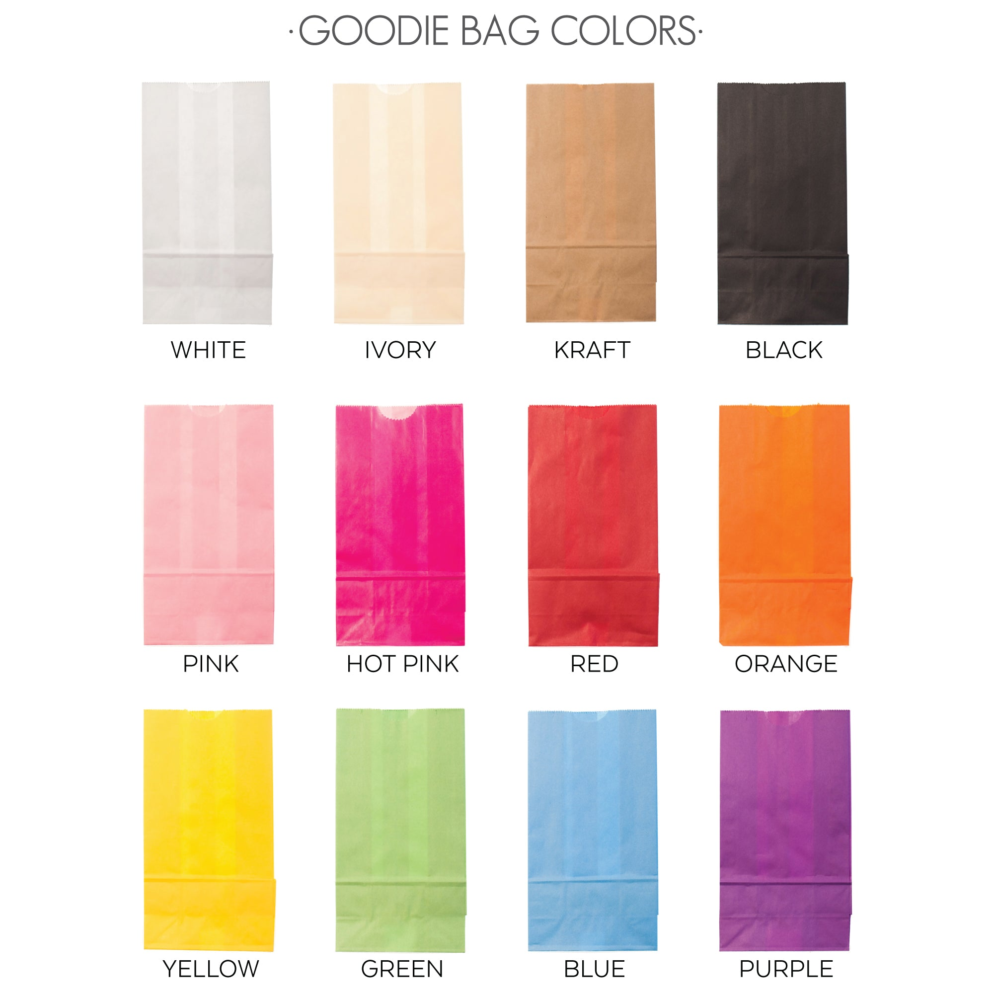 XX GOODIE BAG COLORS